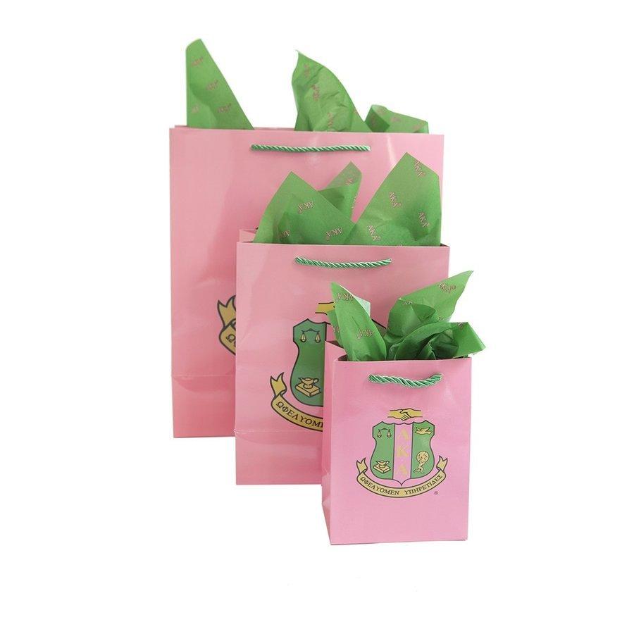Alpha Kappa Alpha Paper Gift Bag Set