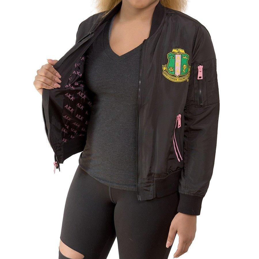 Alpha Kappa Alpha Satin Bomber Jacket