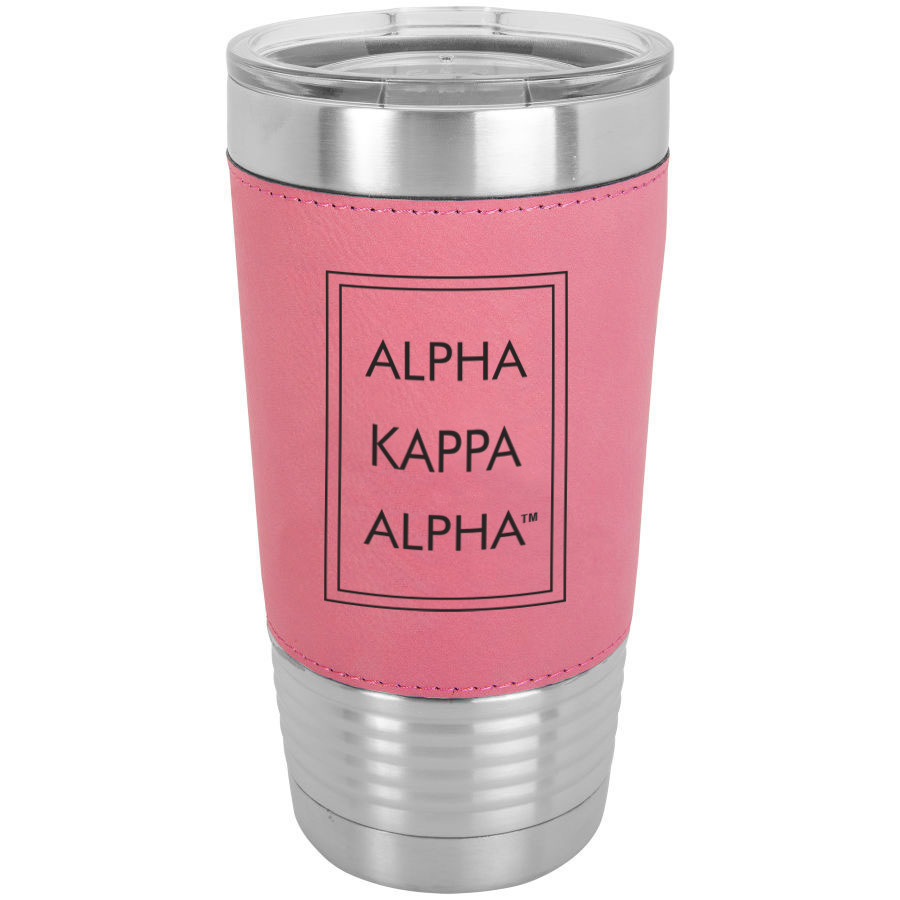 Alpha Kappa Alpha Sorority Leatherette Polar Camel Tumbler
