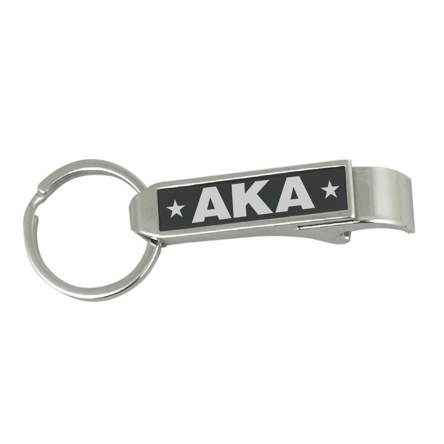 Alpha Kappa Alpha Stainless Steel Bottle Opener Key Chain