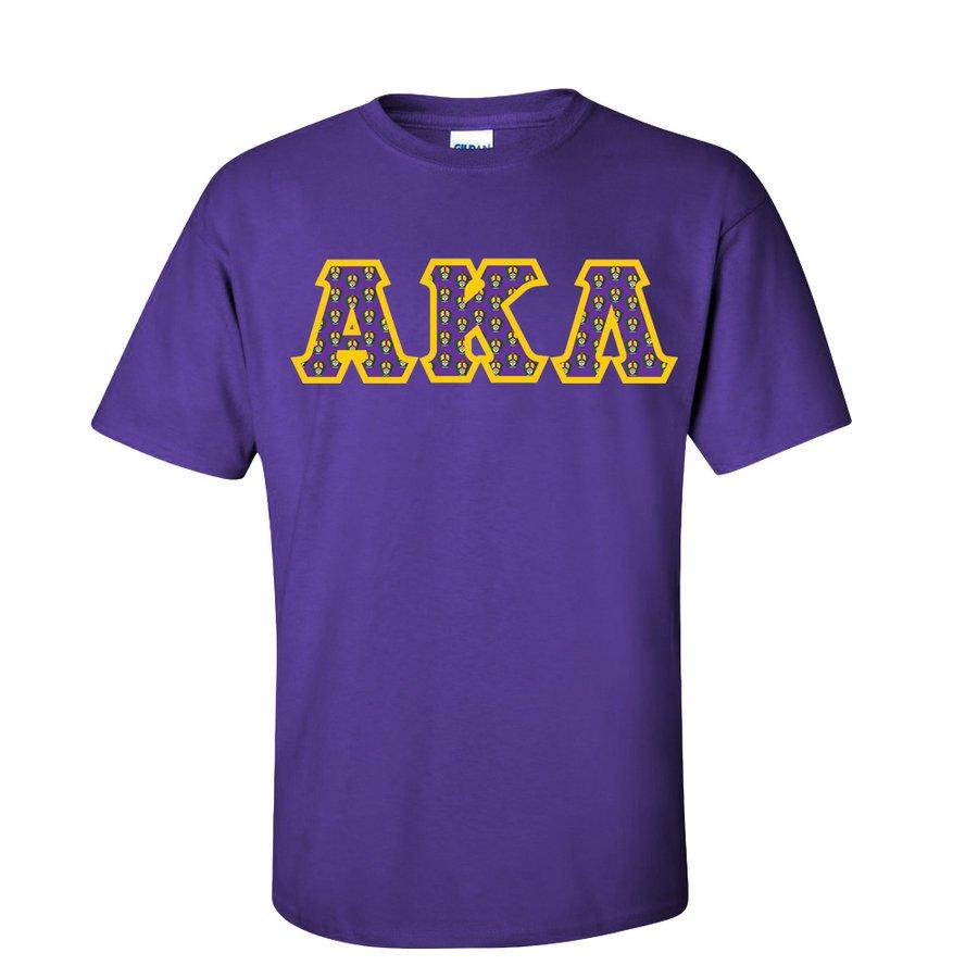 Alpha Kappa Lambda Fraternity Crest - Shield Twill Letter Tee