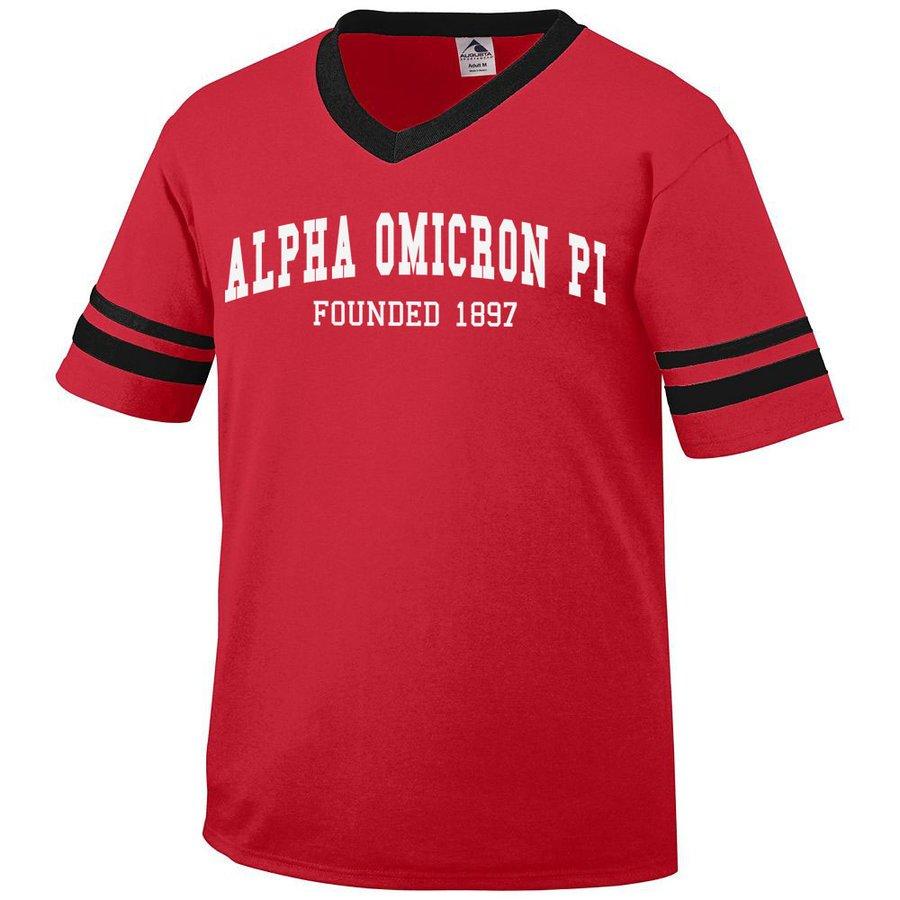 Alpha Omicron Pi Boyfriend Style Founders Jersey
