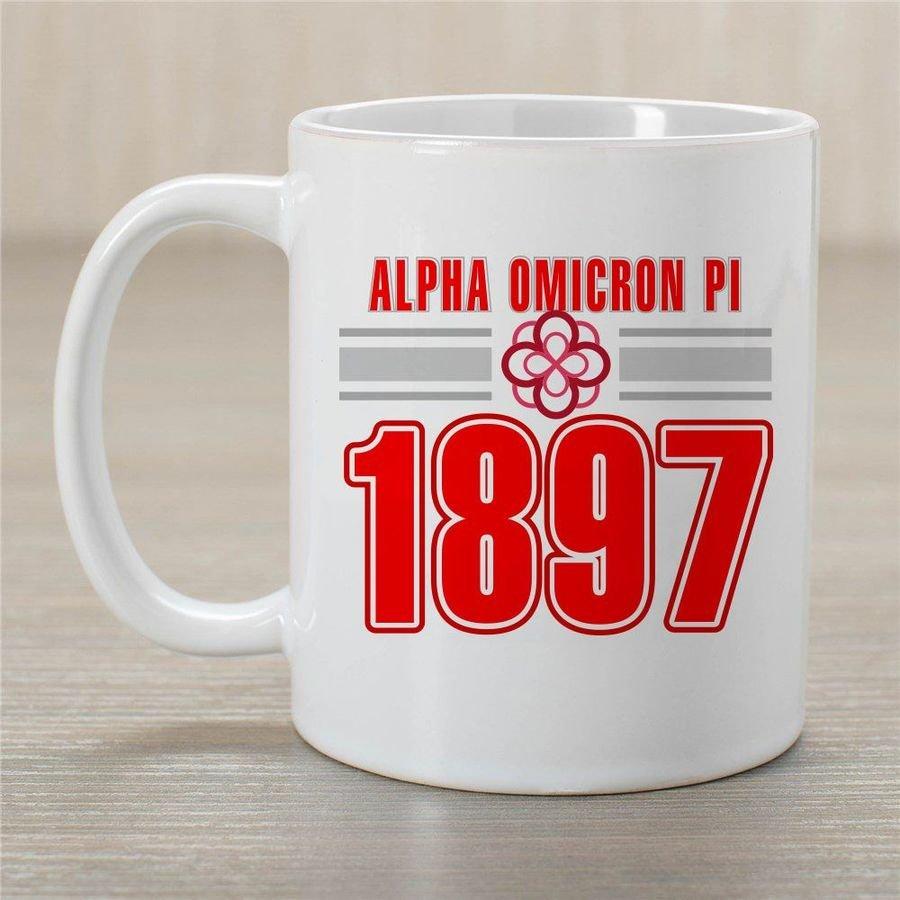 Alpha Omicron Pi Established Year Coffee Mug - Personalized!