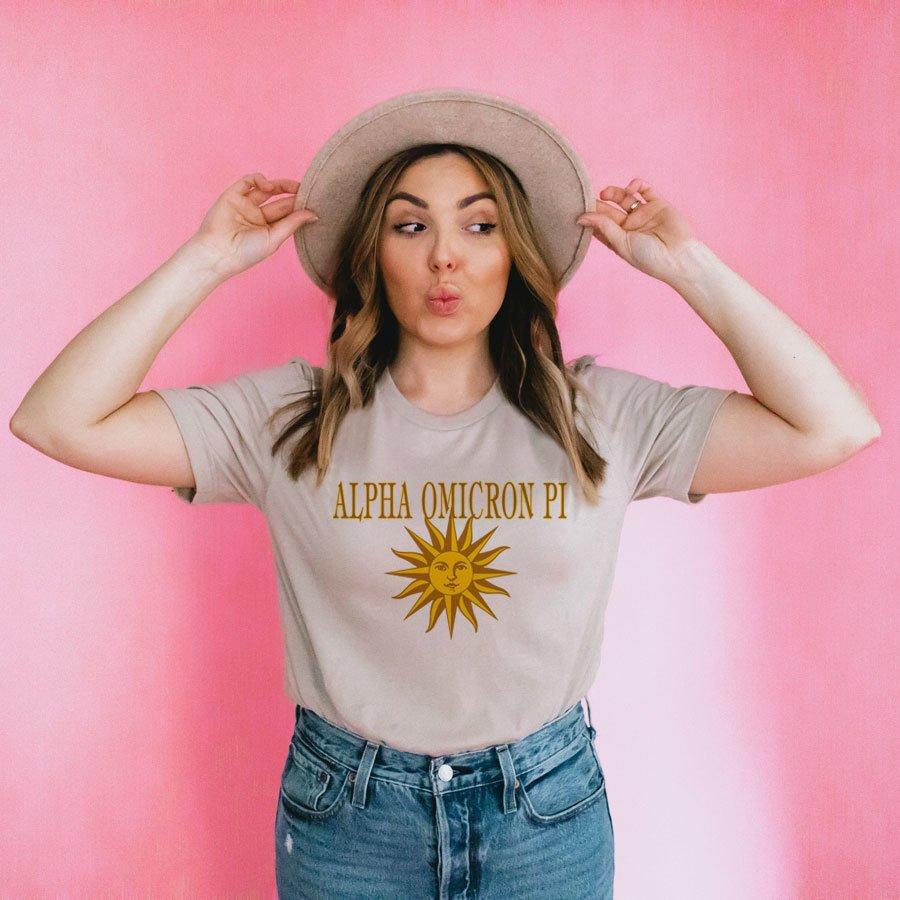 Alpha Omicron Pi Sunshine Day T-Shirt
