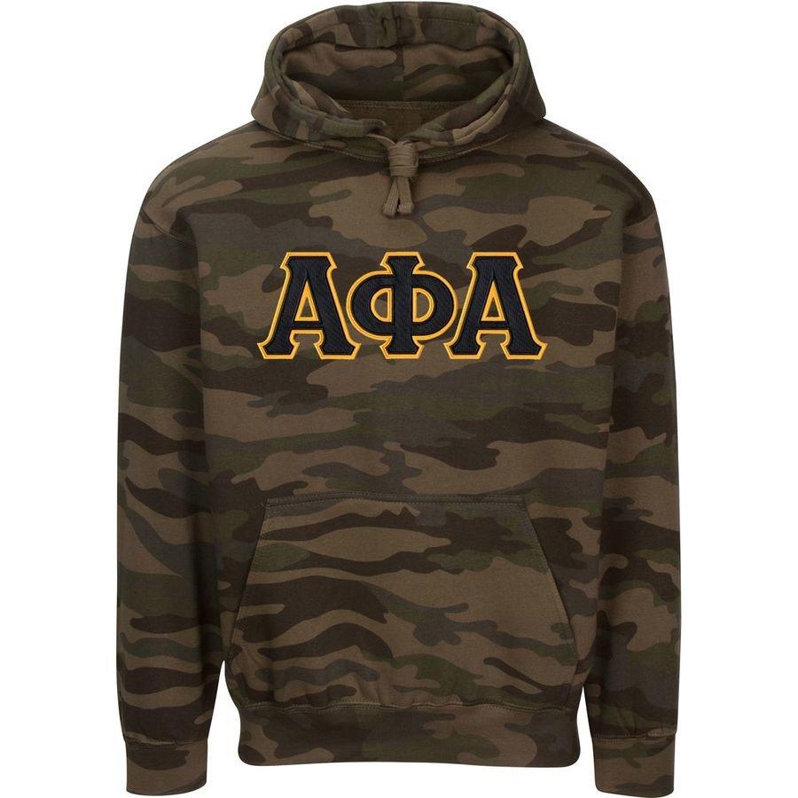 Alpha Phi Alpha 2 Day Ship Camo Hooded Twill Sweatshirt