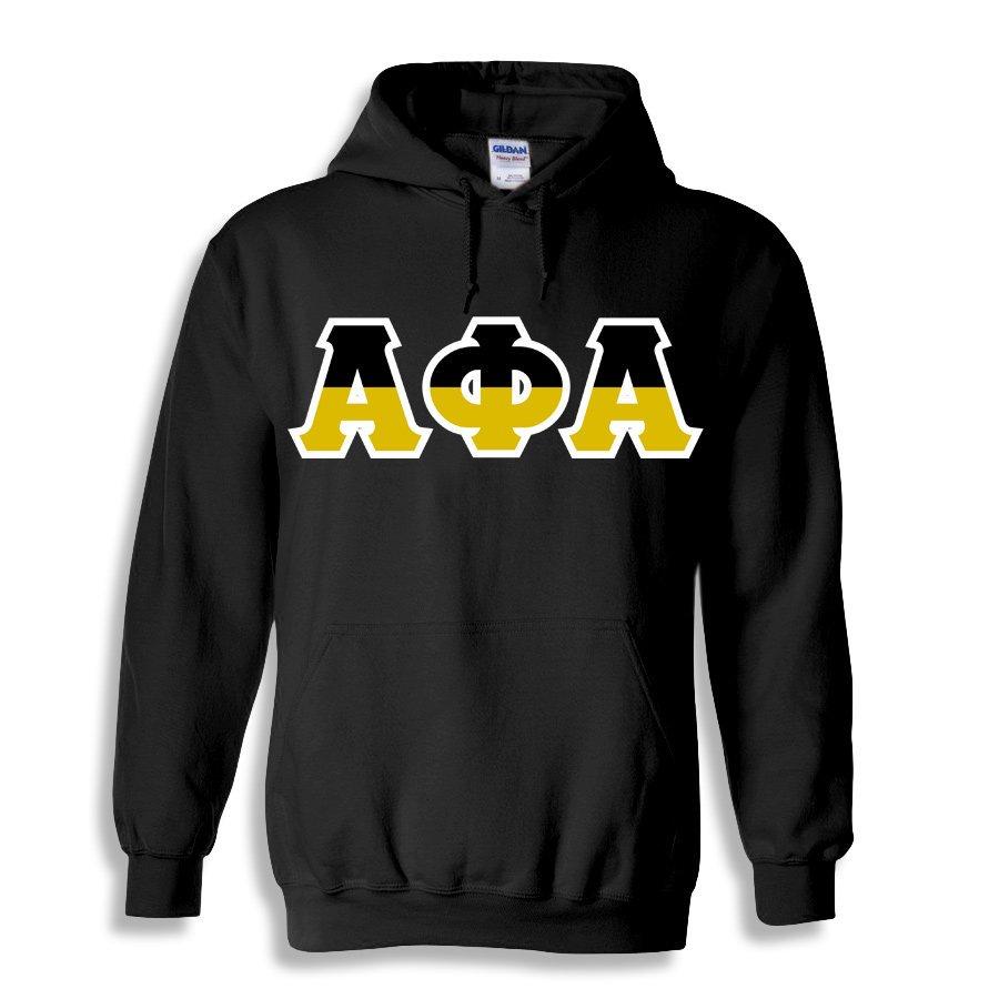 Alpha Phi Alpha Two Tone Greek Lettered Hooded Sweatshirt