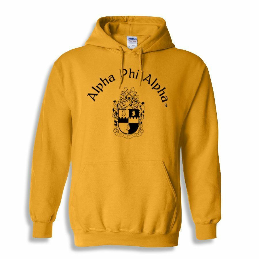 Alpha Phi Alpha World Famous Crest - Shield Printed Hooded Sweatshirt- $35!