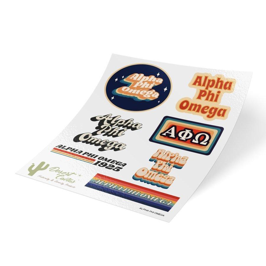 Alpha Phi Omega 70's Sticker Sheet