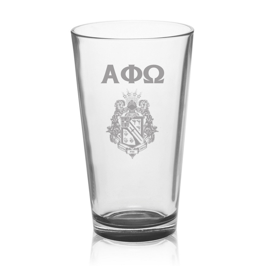 Alpha Phi Omega Mixing Glass