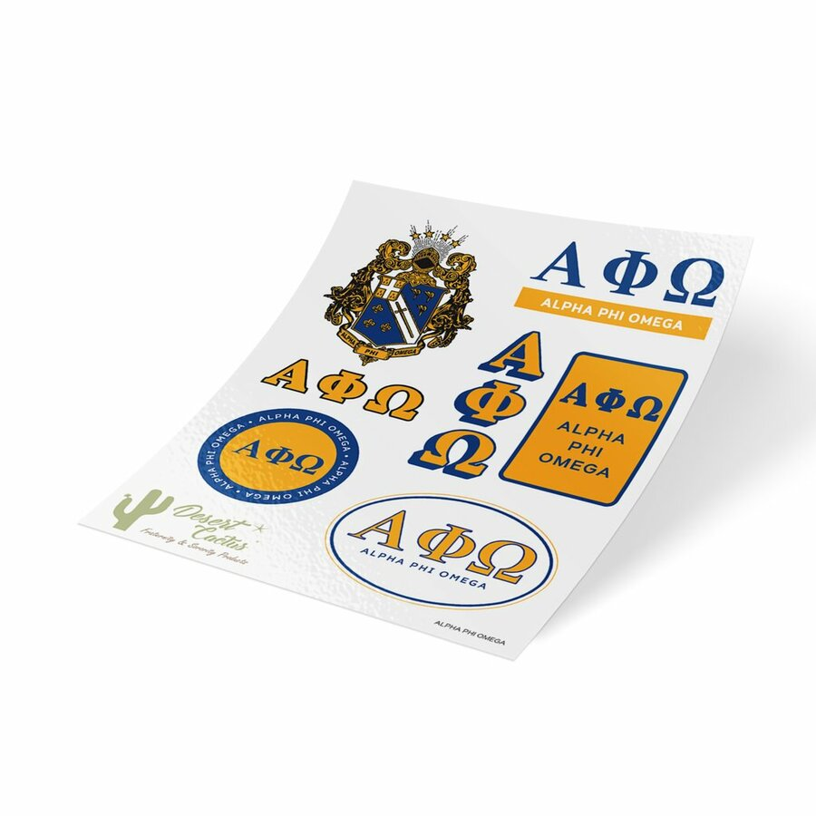 Alpha Phi Omega Traditional Sticker Sheet