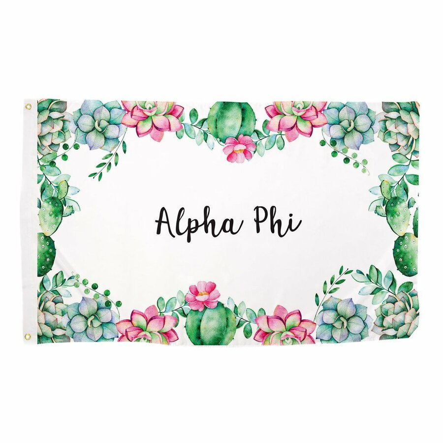 Alpha Phi Succulent Flag
