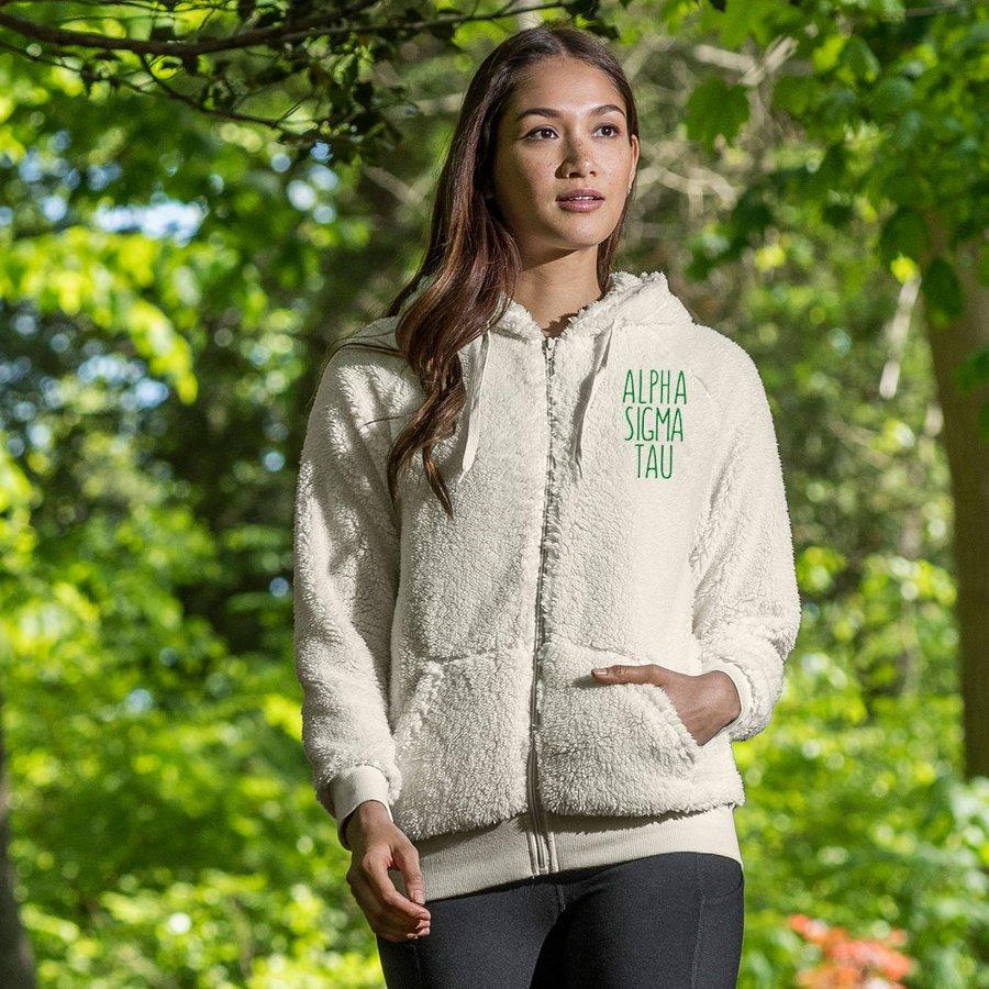 Alpha Sigma Tau Fiona Sherpa Full Zip