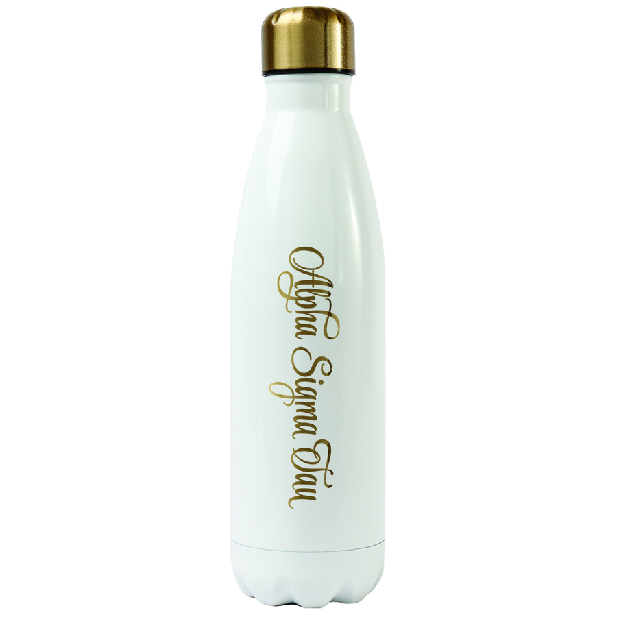 Alpha Sigma Tau Stainless Steel Shimmer Water Bottles