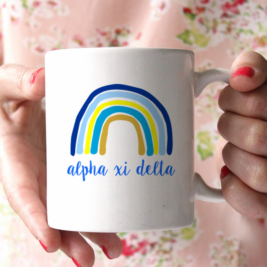 Alpha Xi Delta Rainbow Coffee Mug