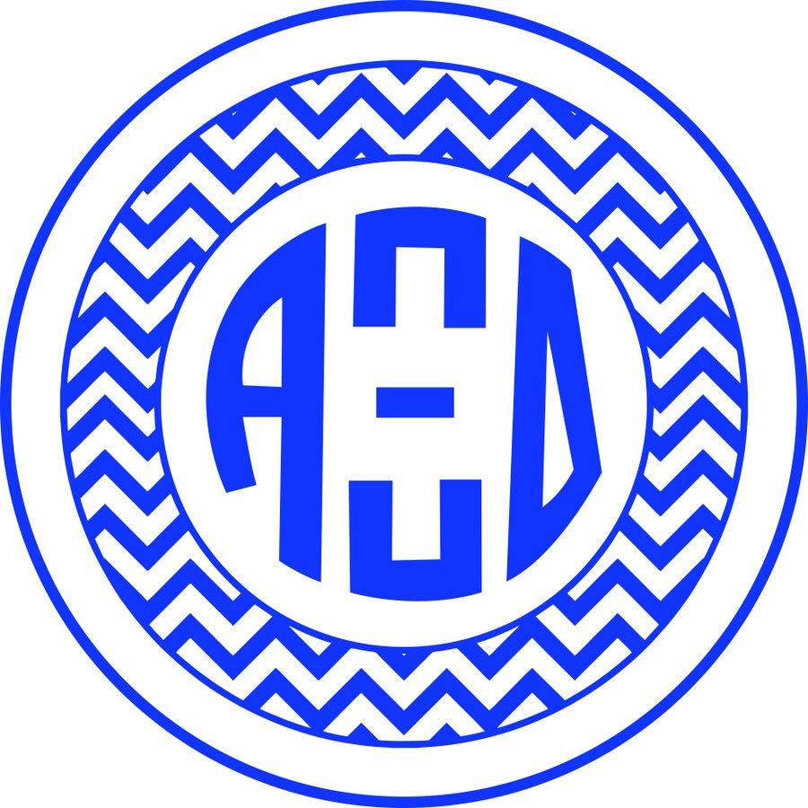Alpha Xi Delta Sorority Monogram Bumper Sticker