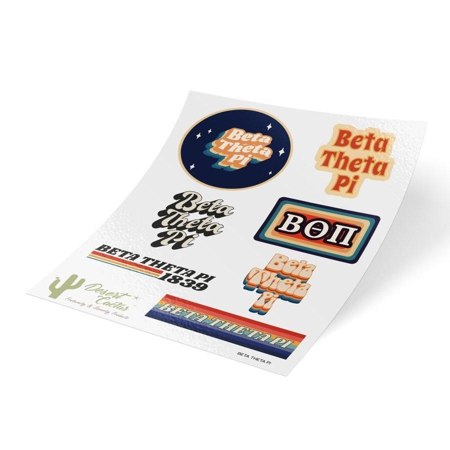 Beta Theta Pi 70's Sticker Sheet