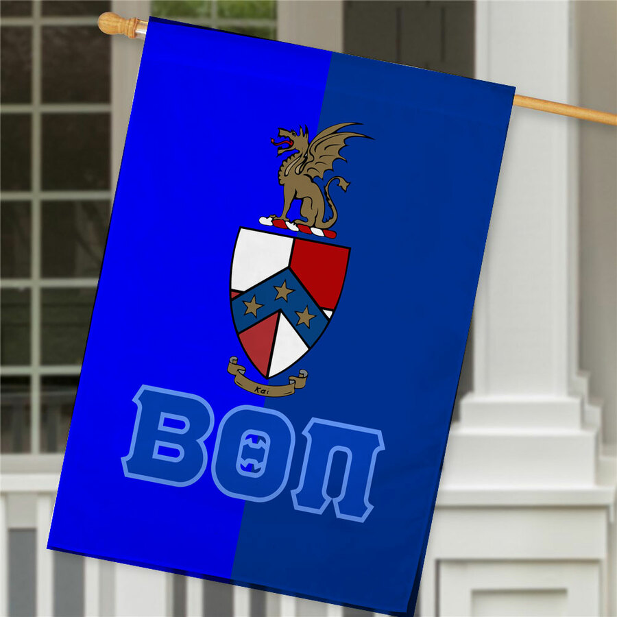 Beta Theta Pi Crest House Flag