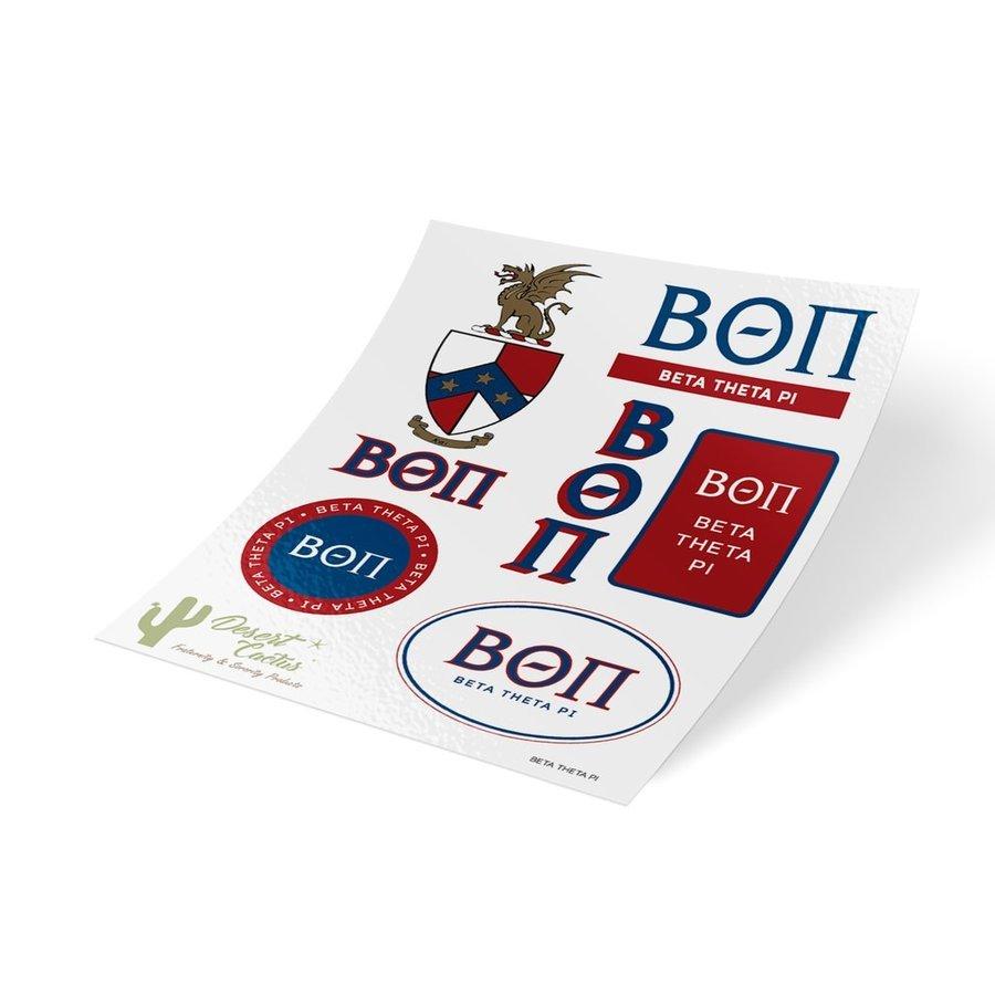 Beta Theta Pi Traditional Sticker Sheet