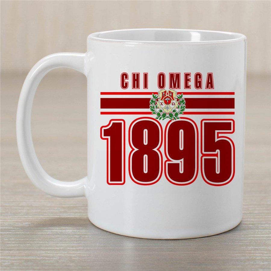 Chi Omega Established Year Coffee Mug - Personalized!