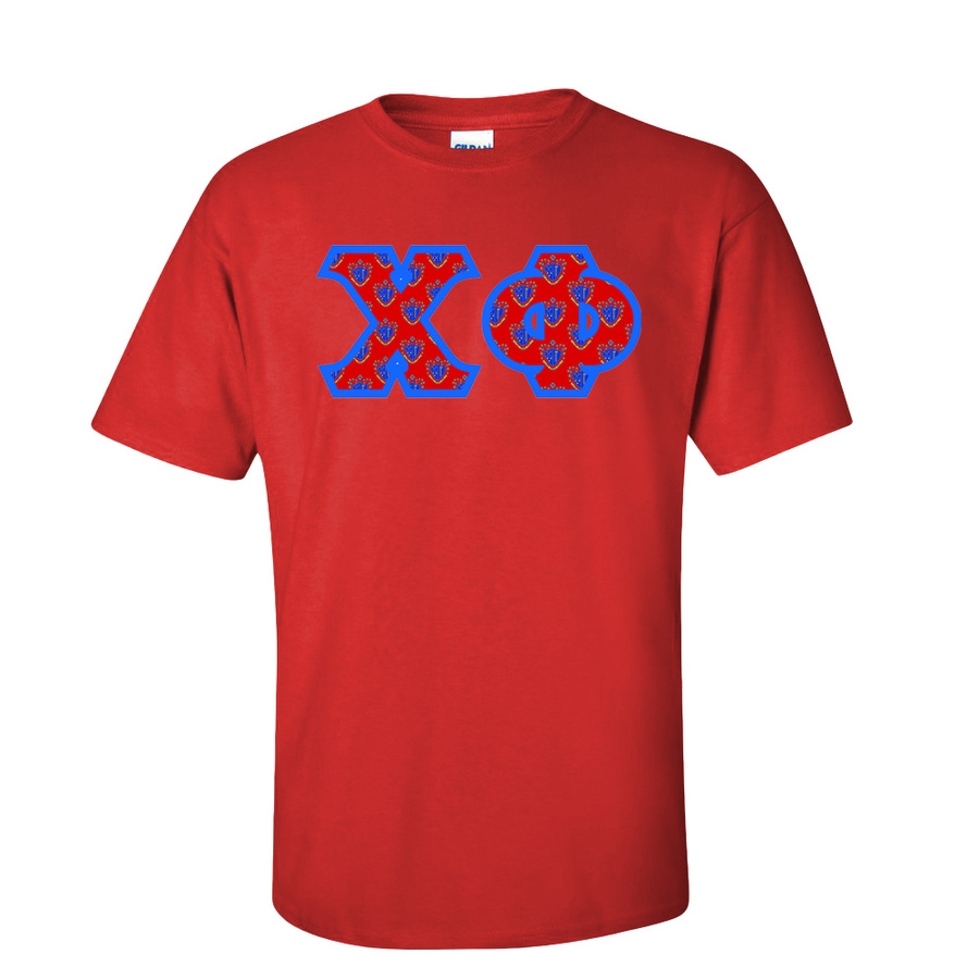 Chi Phi Fraternity Crest - Shield Twill Letter Tee