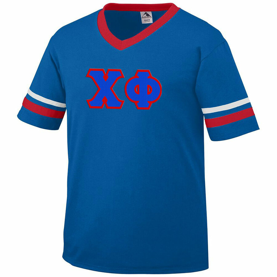 DISCOUNT-Chi Phi Jersey With Greek Applique Letters