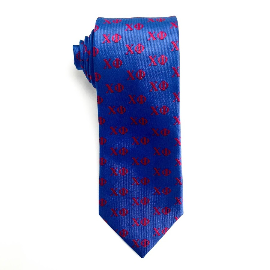 Chi Phi Lettered Woven Necktie