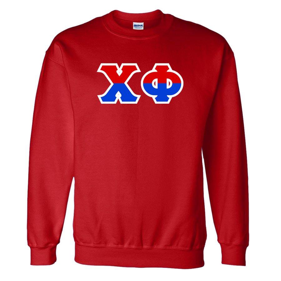Chi Phi Two Tone Greek Lettered Crewneck Sweatshirt