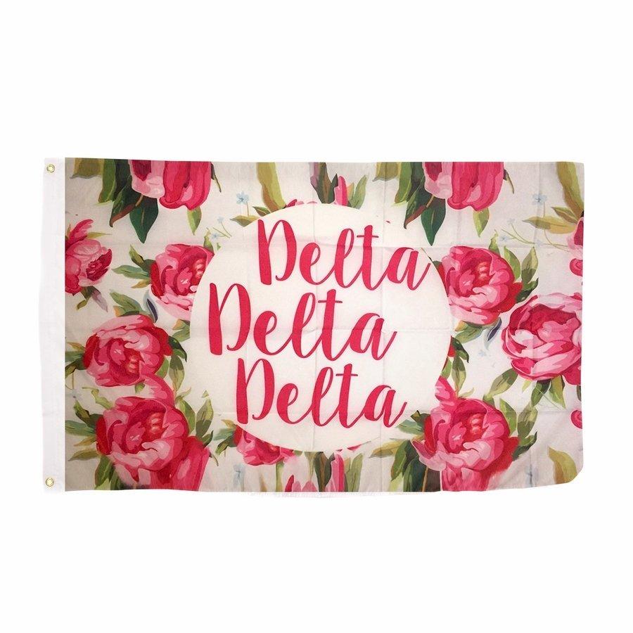 Delta Delta Delta Rose Flag