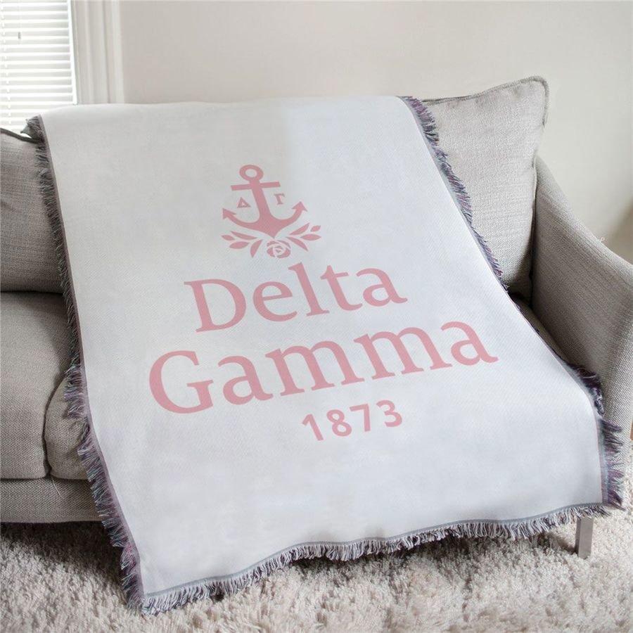 Delta Gamma 1873 Afghan Blanket Throw