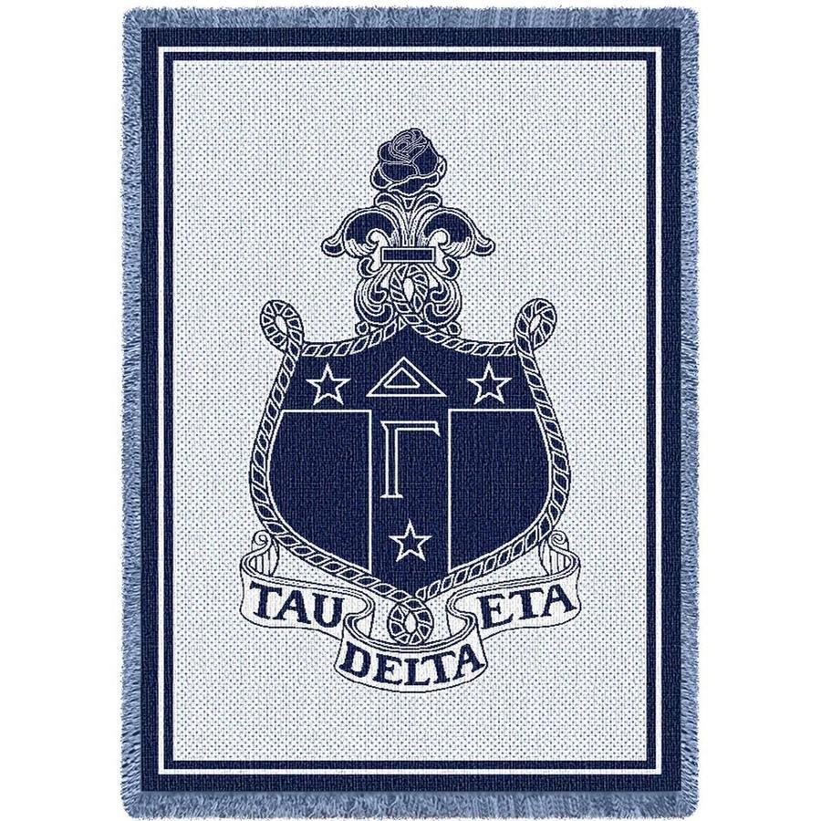 Delta Gamma Afghan Blanket Throw