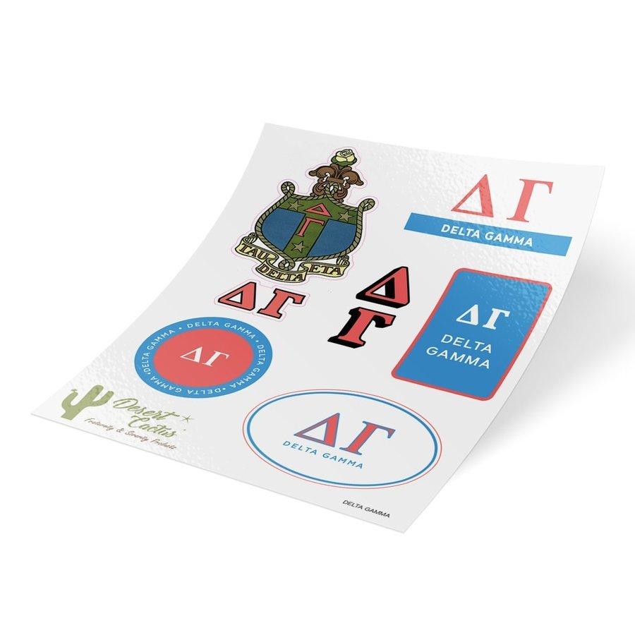 Delta Gamma Traditional Sticker Sheet