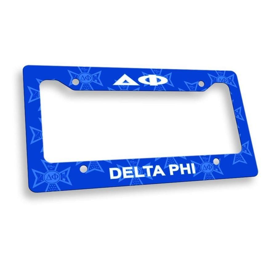 Delta Phi Custom License Plate Frame