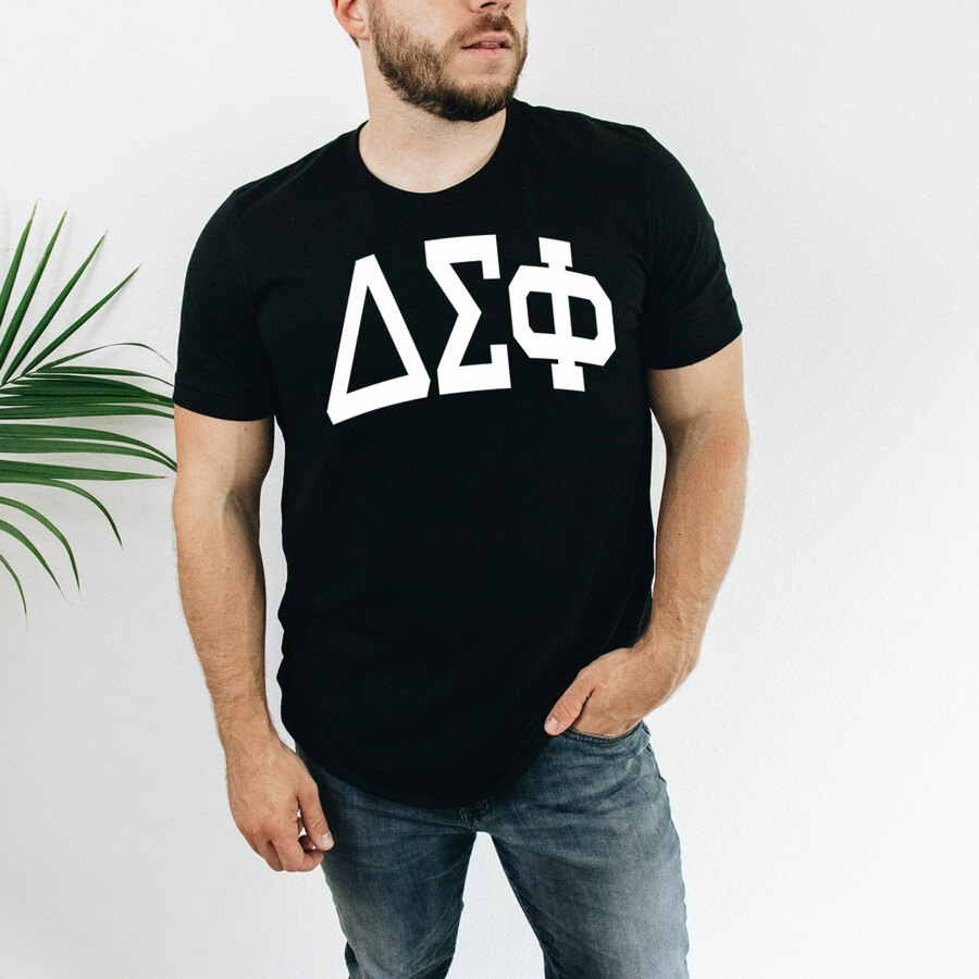 Delta Sigma Phi Arched Greek Letter T-Shirt