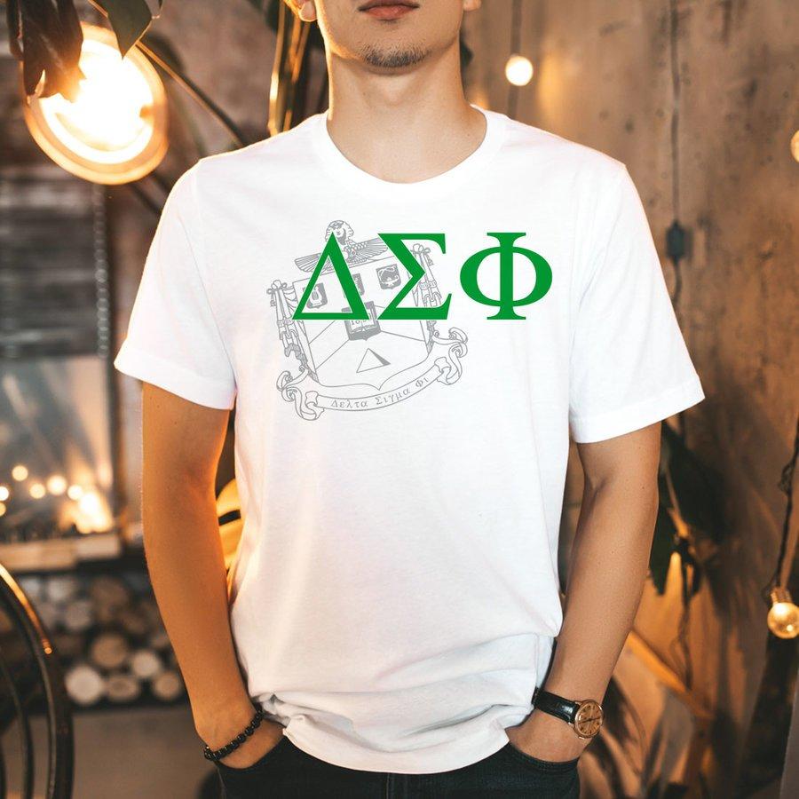 Delta Sigma Phi Greek Crest - Shield T-Shirt