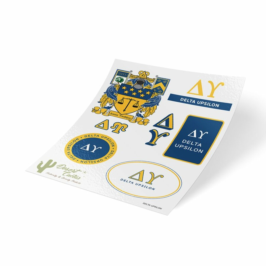 Delta Upsilon Traditional Sticker Sheet