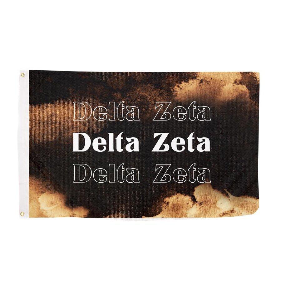 Delta Zeta Bleach Wash Flag