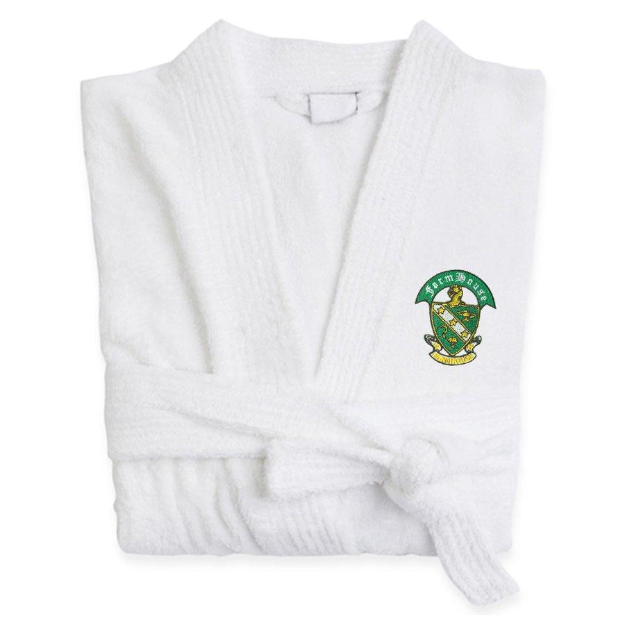 DISCOUNT-FarmHouse Fraternity Crest - Shield Bathrobe