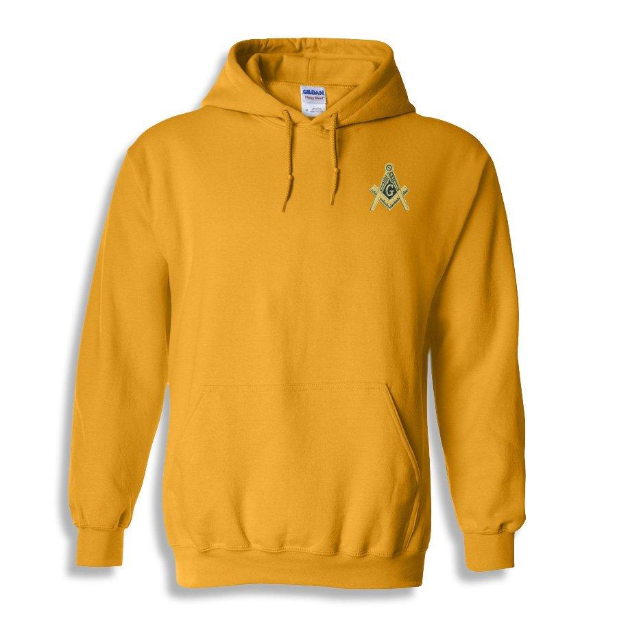 DISCOUNT-Mason / Freemason Crest - Shield Emblem Hooded Sweatshirt