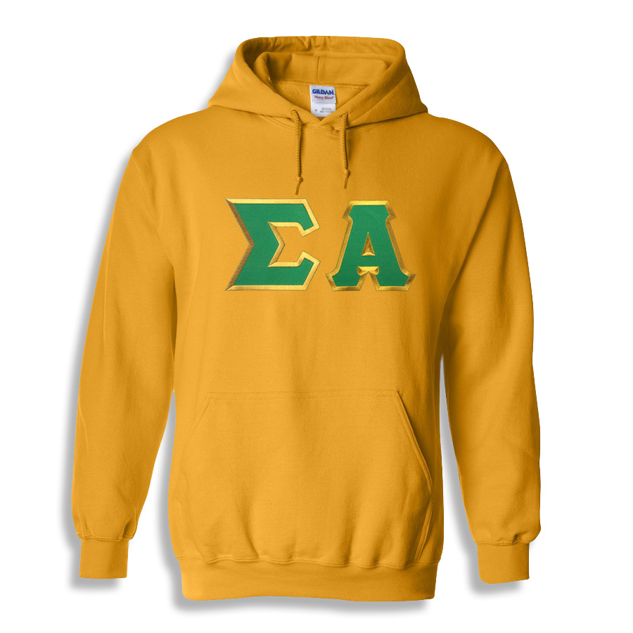 DISCOUNT Sigma Alpha Lettered Hooded Sweatshirt