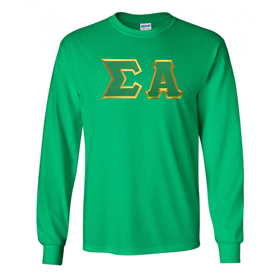 DISCOUNT Sigma Alpha Lettered Long Sleeve Tee