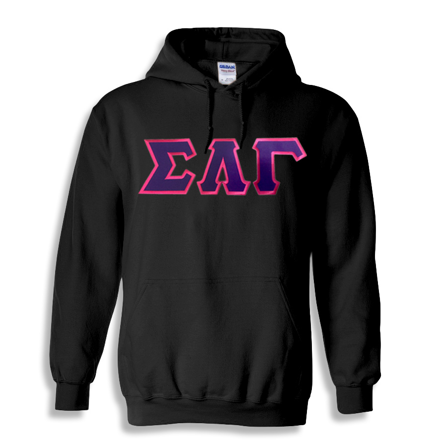 DISCOUNT Sigma Lambda Gamma Sorority Lettered Hooded Sweatshirt