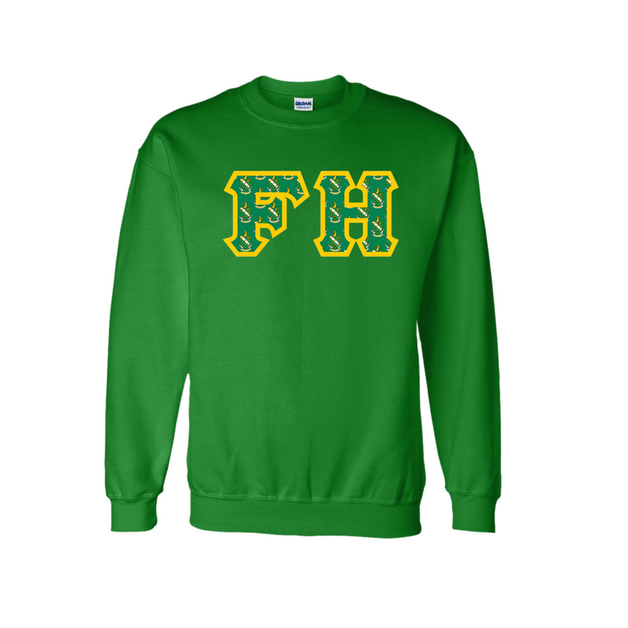 FARMHOUSE Fraternity Crest - Shield Twill Letter Crewneck Sweatshirt