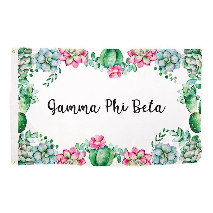 Gamma Phi Beta Succulent Flag