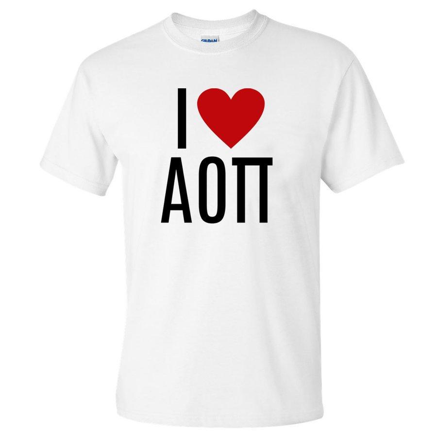 I Love Alpha Omicron Pi T-Shirts