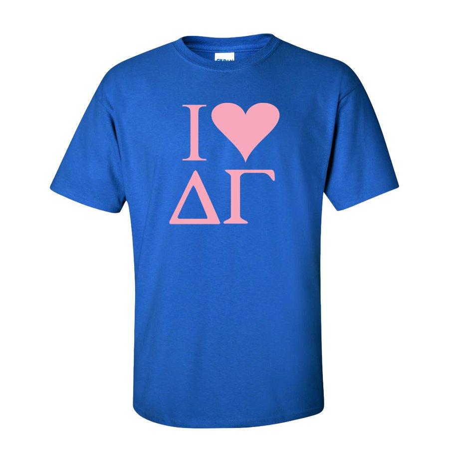 I Love Delta Gamma T-Shirts