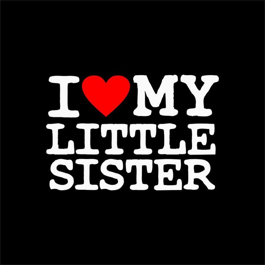 I Love My Little Sister T Shirt Sale 1695 Greek Gear