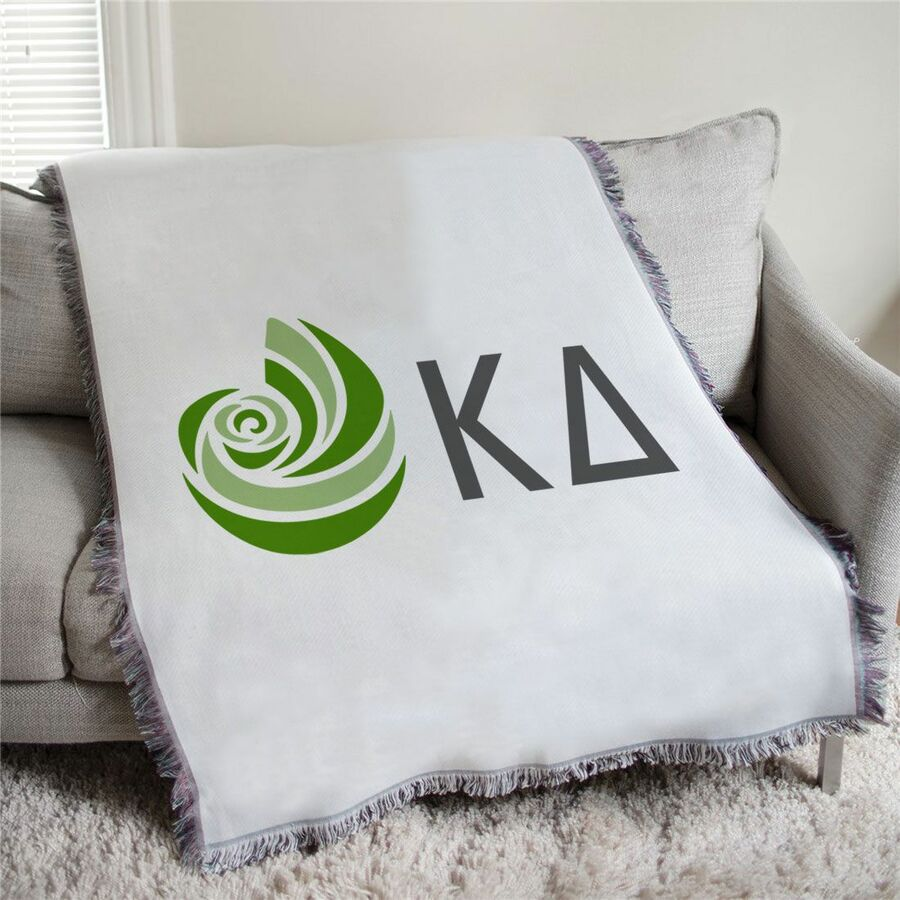 Kappa Delta Mascot Afghan Blanket Throw