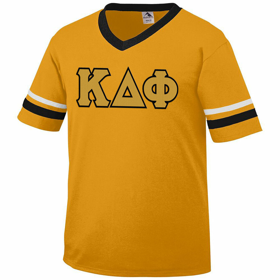 DISCOUNT-Kappa Delta Phi Jersey With Greek Applique Letters