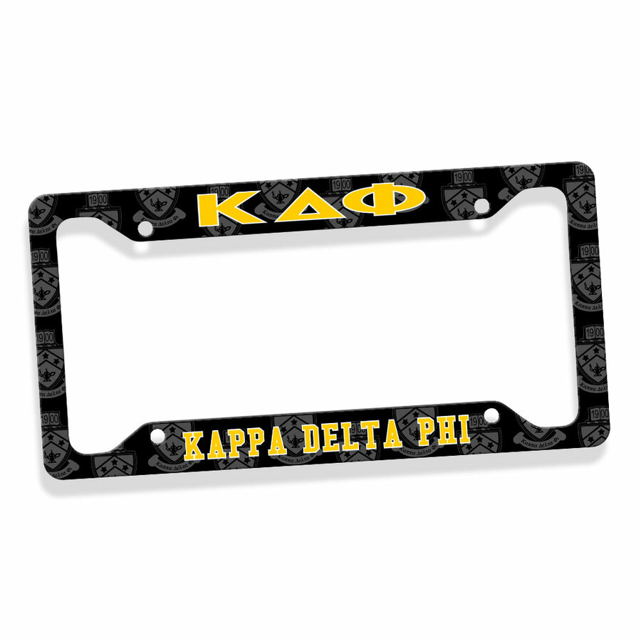 Kappa Delta Phi Metal License Plate Frame