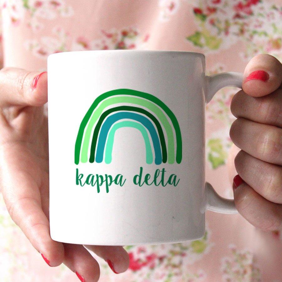 Kappa Delta Rainbow Coffee Mug